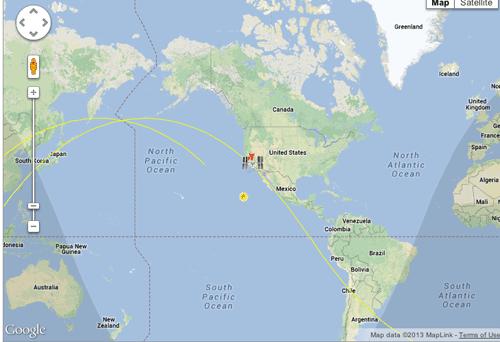 Realtime Satellite Tracking GIS Lounge - Real time satellite map