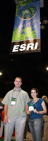 GIS professionals, Kristina Jacob and Marc Zuber attend their first ever ESRI International User Conference.