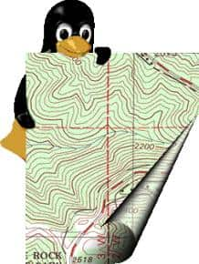 Linux Penguin and Topo Map