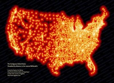 Map of McDonalds