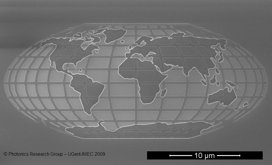 World Map To Scale. World Map Etched on a Tiny