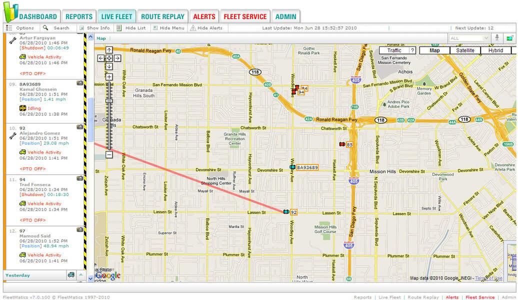 Real-time fleet tracking. Image: Fleetmatics