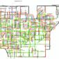 Sidewalk availability in proximity to schools.