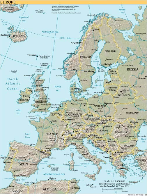 map of europe. Reference Map – Europe