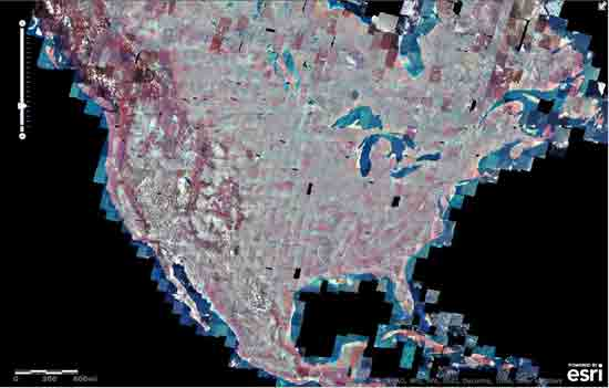 False Color/Near Infrared Landsat Imagery 1975-2005
