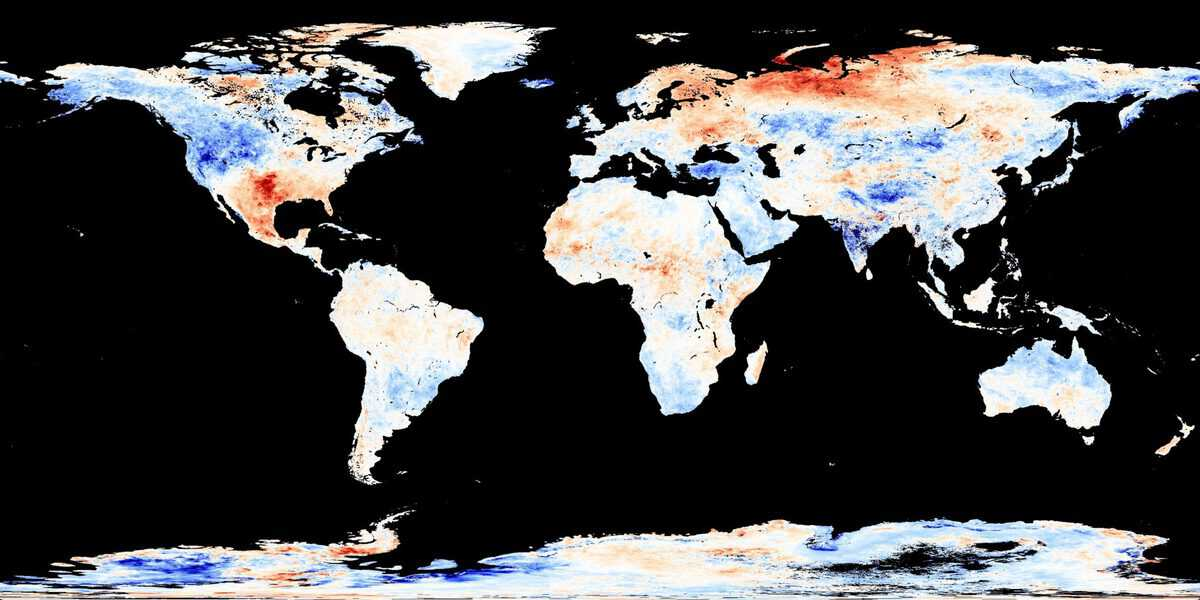 Land Surface Temperature Anomaly (June 1 - June 30, 2011) image by Jesse Allen, NASA's Earth Observatory using data courtesy of the MODIS Land Group.
