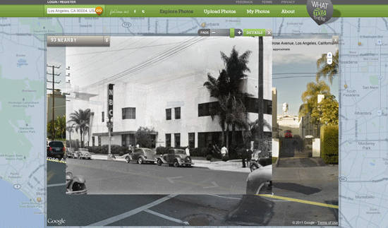 View of a television studio on Melrose in Hollywood. From the WhatWasThere site.