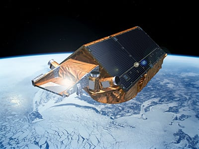 CryoSat-2. Credits: ESA – P. Carril