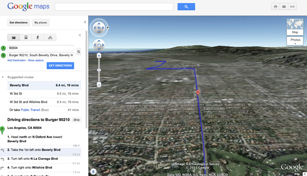Helicopter View on Google Maps