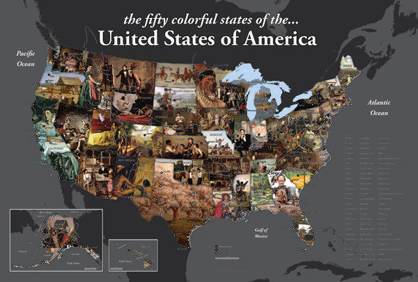 Map of the United States by David McCarter.