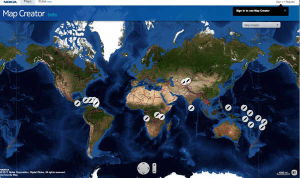 Nokia's Map Creator