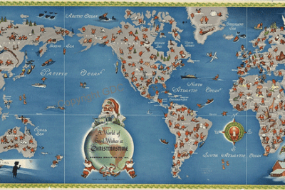 Christmas Map: A World of good wishes at Christmastime