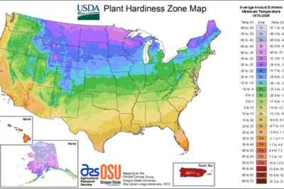 New Plant Hardiness Zone Map