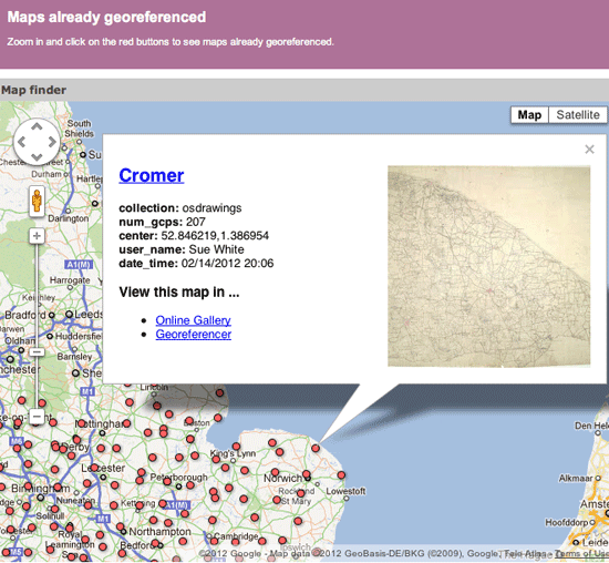 Georeferencing Map Project at the British Library