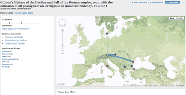 Google Ancient Places: Exploring the Geography of Ancient Places in Text