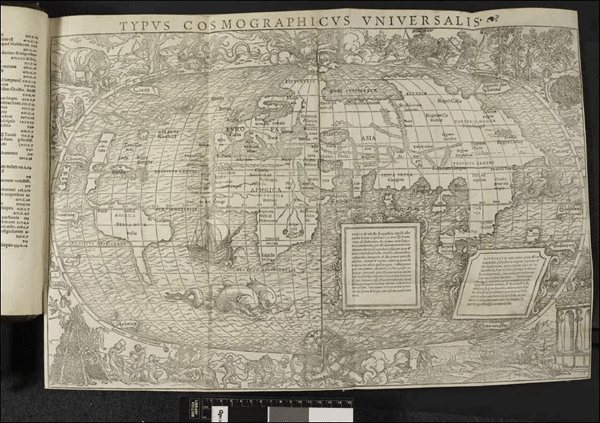 World map stolen from the British Library by Farhad Hakimzadeh.