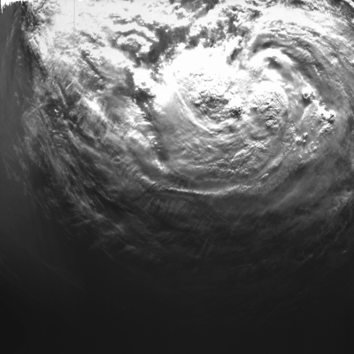 The X-Cam - Exploration Camera - on ESA's Proba-2 microsatellite caught this view of soon-to-be Hurricane Isaac as it moved west of the Florida coast into the Gulf of Mexico at 11:38:33 GMT on Monday 27 August 2012.   Credits: ESA