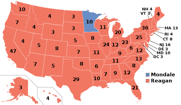 1984 presidential election map.