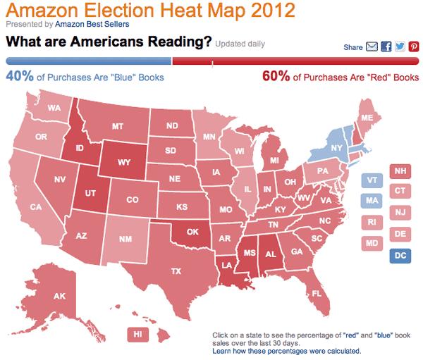 Amazon Election Heat Map 2012