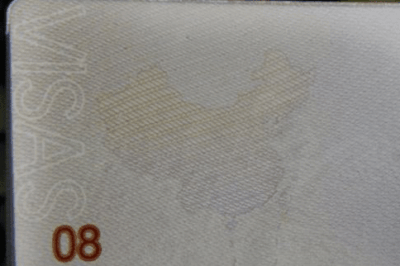 Inside page of the new Chinese passport showing a map of China that includes disputed areas.