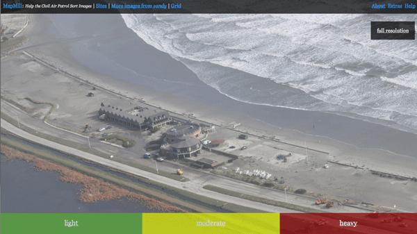 Hurricane Sandy crowdsourced image classification effort.