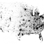 Map of the 2010 Census Using Dots