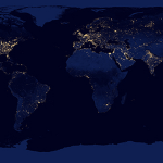 New Map of the Earth's Night Lights