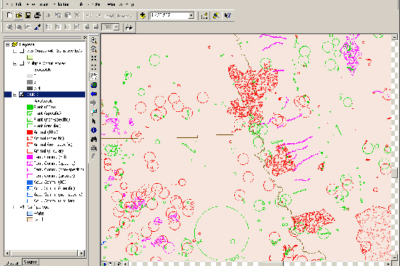 A screenshot showing ArcMap.