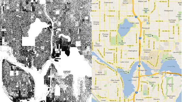 Seattle census dot map