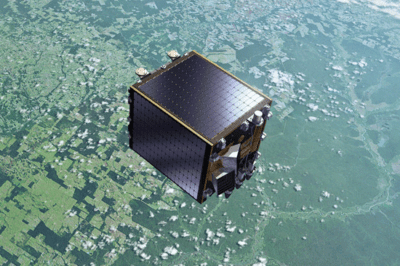 Artistic view of the Proba-V satellite. Source: ESA.