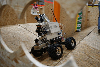 Robotic mapping using LiDAR. The robot was built by the Technische Universität Darmstadt in Germany.