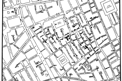 John Snow's 1854 Cholera Map.