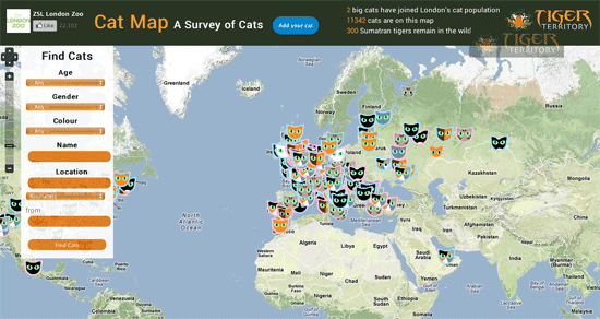 London Zoo's Cat Map Survey