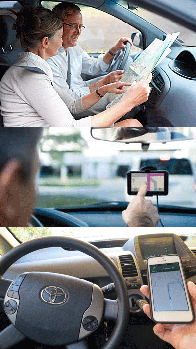 Smartphone Maps Illegal While Driving but Paper Maps are Okay in California