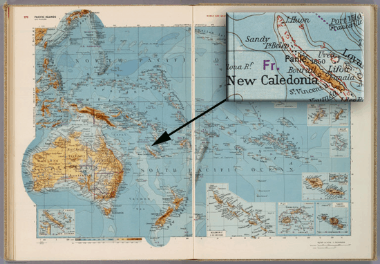 This 1953 map from the Bayer, Herbert; Container Corporation of America shows Sandy Island.