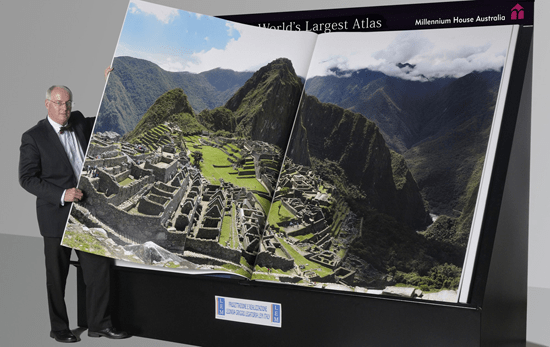 The Earth Platinum Atlas, officially the world's largest atlas.