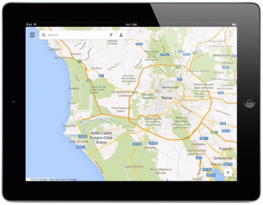 Google Maps for iPad.