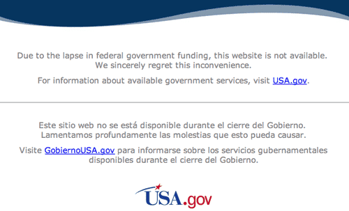 Visitors to most US Government sites will see this notice in some form.