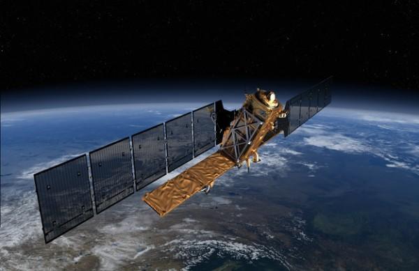 Sentinel-1 satellite.  Source:ESA/ATG Medialab