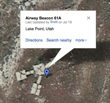 Historic airway beacon located in Utah.
