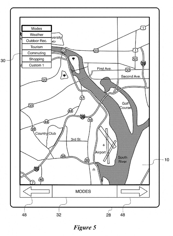 Figure 5 from Apple's Interactive Map Patent.