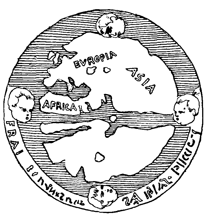 """""""Map of the Universe"""" shown on reverse side of a fifteenth century medal."""