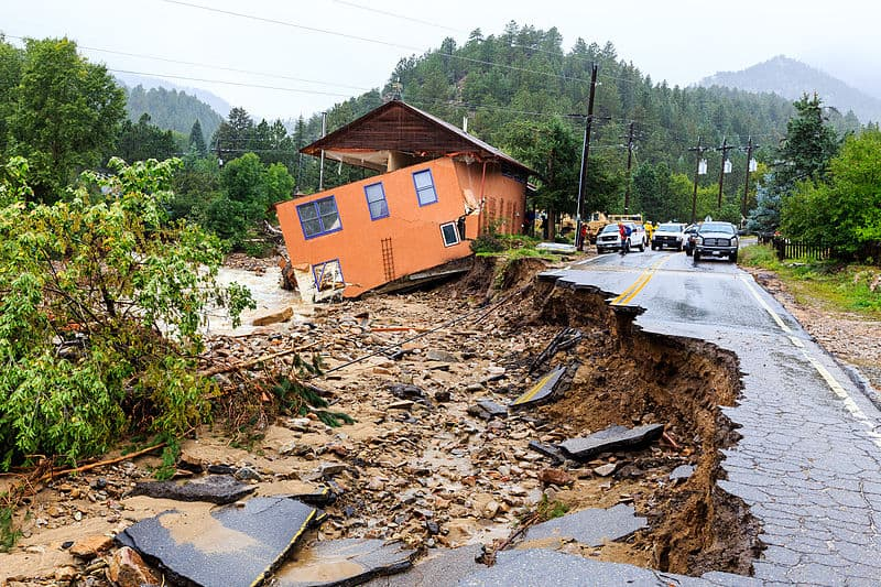 Flood damage in Colorado as a result of the rainfalls this September. (Photo Source: Wikimedia)