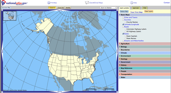 National Atlas Of The United States And The National Map Merging - Us map maker