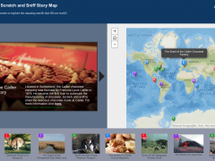 The World's First Scratch and Sniff Interactive Story Map