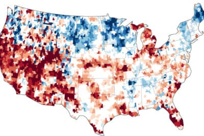 GRACE based shallow groundwater drought indicator map for July 7, 2014. Source: NASA.