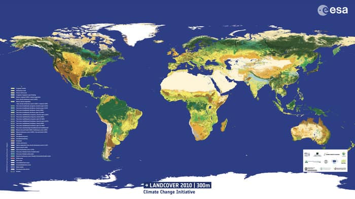 Gis World Map Shapefile.Land Cover Gis Data From The European Space Agency Gis Lounge