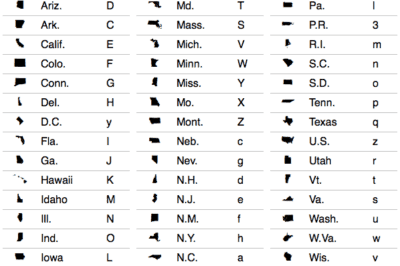 StateFace, open source font collection of the U.S. States.