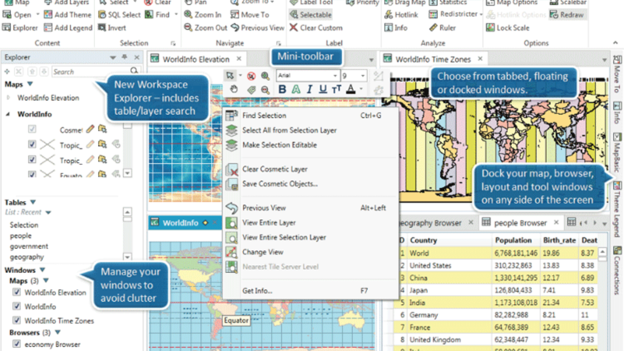 Latest Release of MapInfo Focuses on an Easier to Use