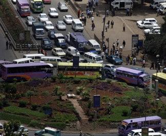 Traffic along heile selasi Avenue next to Railway satation in Nairobi. Photo: Demosh